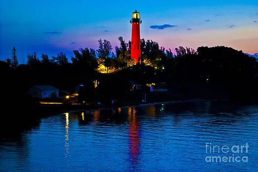 Sunrise at the Jupiter Lighthouse by Brenda Gutierrez Moreno