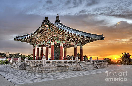 Sunrise at the Korean Bell by Nick Carlson
