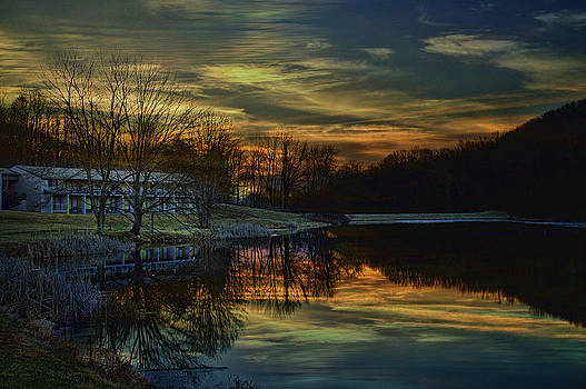 Sunrise At The Peaks by Kathy Jennings