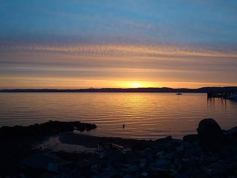Sunrise at the Tappan Zee Bridge by Tammy Kuiper