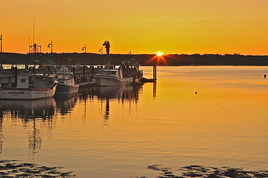 Sunrise Boats New Castle by Gail Maloney