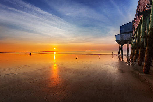 Jo Ann Snover - Sunrise by Old Orchard Beach pier