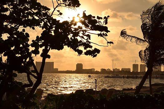 Sunrise Cancun Mexico by Wayne Pellenberg