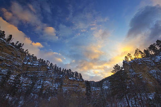 Sunrise Canyon Shadows by Evan Ludes