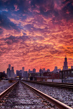 Sunrise Chicago 12-1-13  by Michael  Bennett