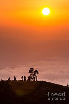Sunrise on the hill by Frederiko Ratu Kedang