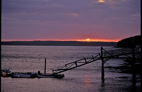 Sunrise Frenchman's Bay by Gail Maloney