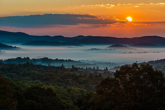 Sunrise from Mose Cone by Mike Watts