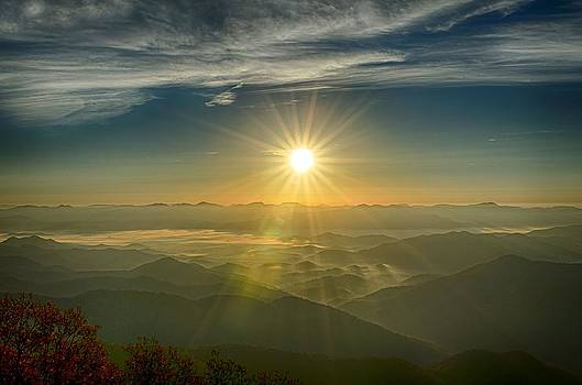 Sunrise from Wayah Bald by Eric Haggart