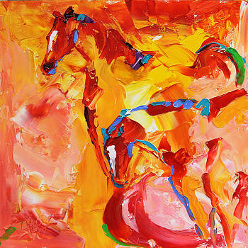 Sunrise Graze Horse 25 2014 by Laurie Pace