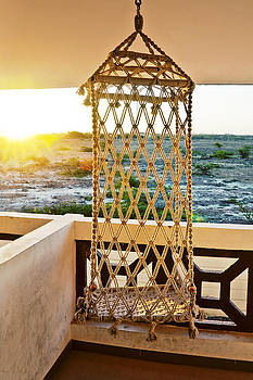 Kantilal Patel - Sunrise hanging on a Rope chair