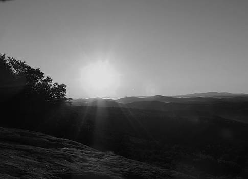 Sunrise in Black and White by Judy  Waller