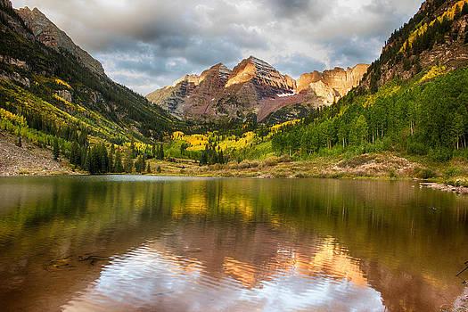 Sunrise in fall by Dawn Morrow