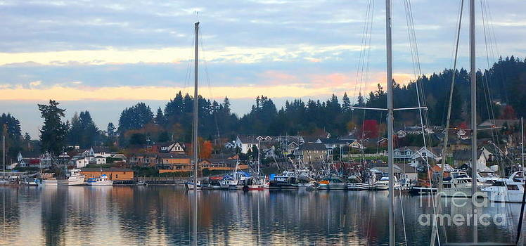 Sunrise in Gig Harbor WA by Tanya  Searcy