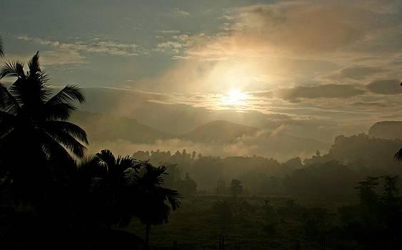 Sunrise in Sri Lanka by Ajithaa Edirimane