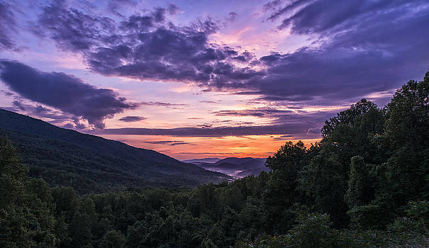 Sunrise in the Sugarland Mountains by Dick Wood