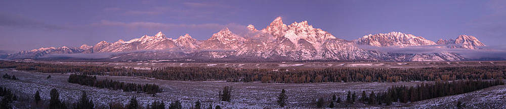 Sunrise in the Tetons by Luca Diana