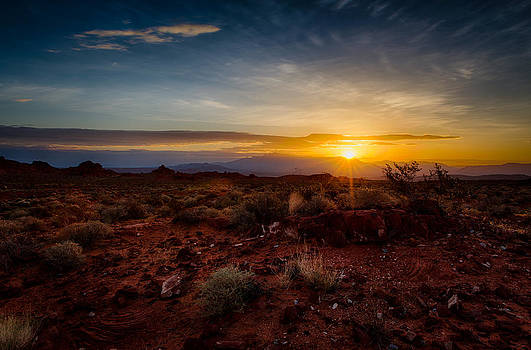 Sunrise in the Valley of Fire by Howard Weitzel