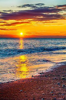 Sunrise Lake Michigan 11-10-13 001 by Michael  Bennett