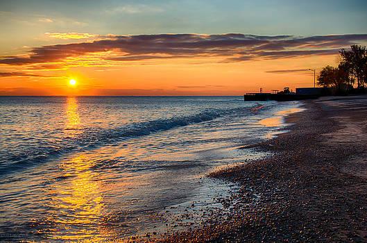 Sunrise Lake Michigan 11-10-13 002 by Michael  Bennett