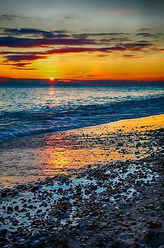 Sunrise Lake Michigan 11-10-13 003 by Michael  Bennett