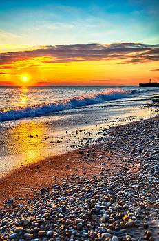 Sunrise Lake Michigan 11-10-13 004 by Michael  Bennett
