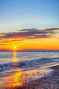 Sunrise Lake Michigan 11-10-13 005 by Michael  Bennett