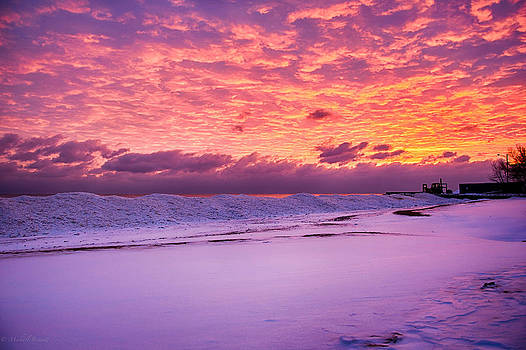 Sunrise Lake Michigan 12-15-13 by Michael  Bennett