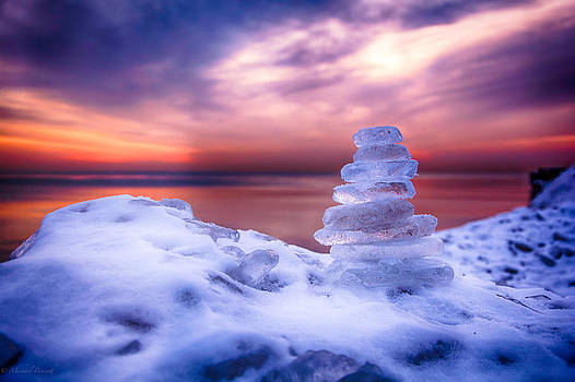Sunrise Lake Michigan 12-19-13 6 by Michael  Bennett