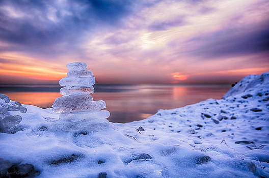 Sunrise Lake Michigan 12-19-13 7 by Michael  Bennett