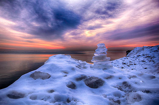 Sunrise Lake Michigan 12-19-13 9 by Michael  Bennett