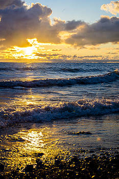 Sunrise Lake Michigan 9-2-13 001 by Michael  Bennett