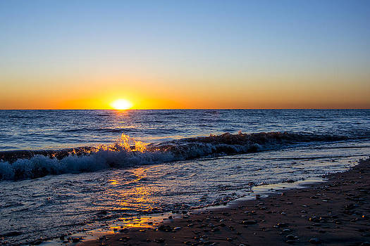 Sunrise Lake Michigan 9-27-13 006 by Michael  Bennett
