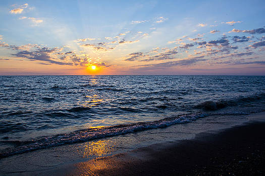 Sunrise Lake Michigan August 10th 2013 003 by Michael  Bennett