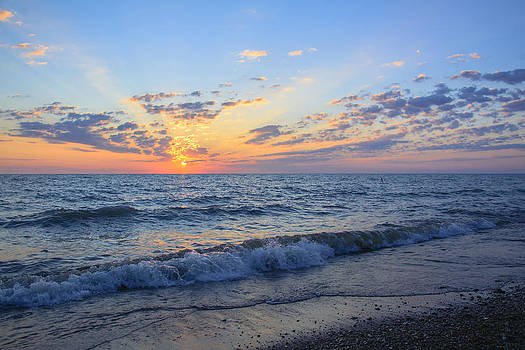 Sunrise Lake Michigan August 10th 2013 004 by Michael  Bennett
