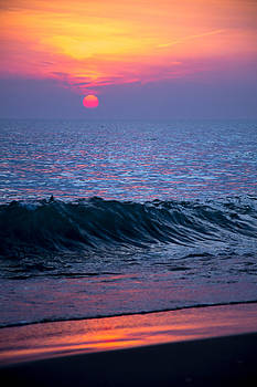 Sunrise Lake Michigan October 5th 001 by Michael  Bennett