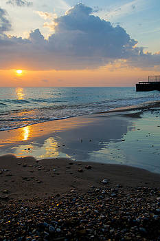 Sunrise Lake Michigan October 5th 004 by Michael  Bennett