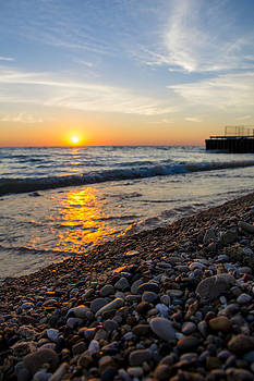 Sunrise Lake Michigan September 28th 2013 002 by Michael  Bennett