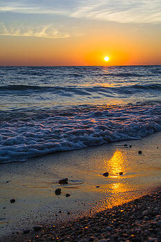 Sunrise Lake Michigan September 28th 2013 005 by Michael  Bennett