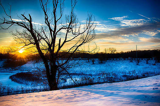 Sunrise North of Chicago 12-14-13-3 by Michael  Bennett