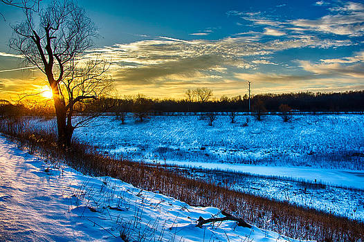 Sunrise North of Chicago 12-14-13-4 by Michael  Bennett