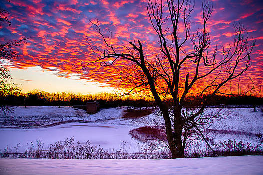 Sunrise North of Chicago 12-18-13 001 by Michael  Bennett