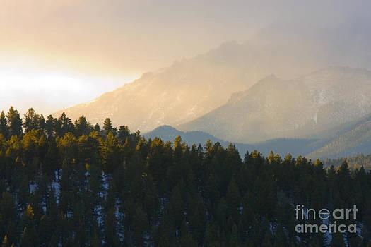 Steve Krull - Sunrise on Cloudy Pikes Peak