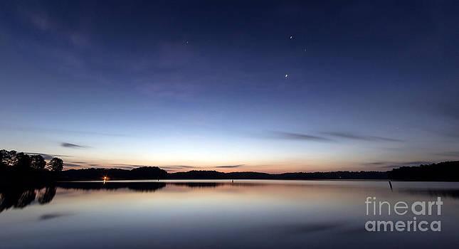 Sunrise on Lake Lanier by Bernd Laeschke