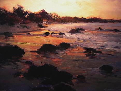 Sunrise on Moonstone Beach by R W Goetting