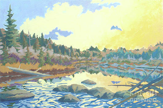 Sunrise on the Armstrong River by Stephen Wysocki