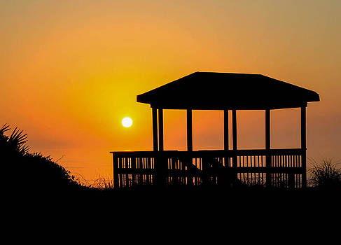 Sunrise on the Gazebo by Donna Vasquez