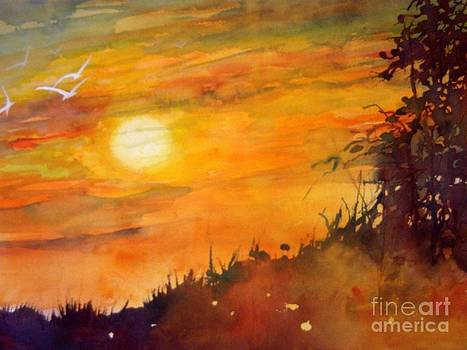 Sunrise on the Hill by Jerry Aissis