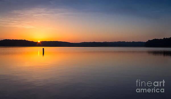 Sunrise on the Lake by Bernd Laeschke