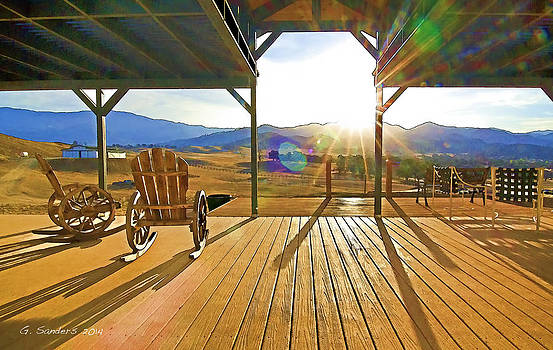 Sunrise On The Porch by Ginger Sanders
